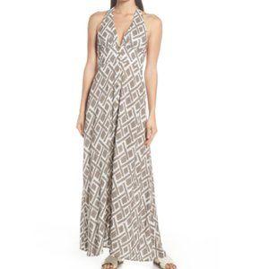 HEIDI KLEIN Brown Halter Neck Cover-Up Maxi Dress